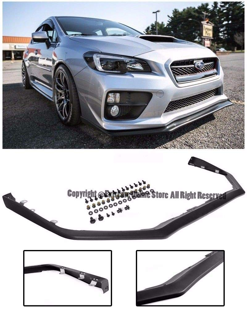 For 2015-2017 Subaru Impreza WRX STi   EOS V-LIMITED Style Polypropylene Primered Black Front Bumper Lower Lip Splitter Extreme Online Store