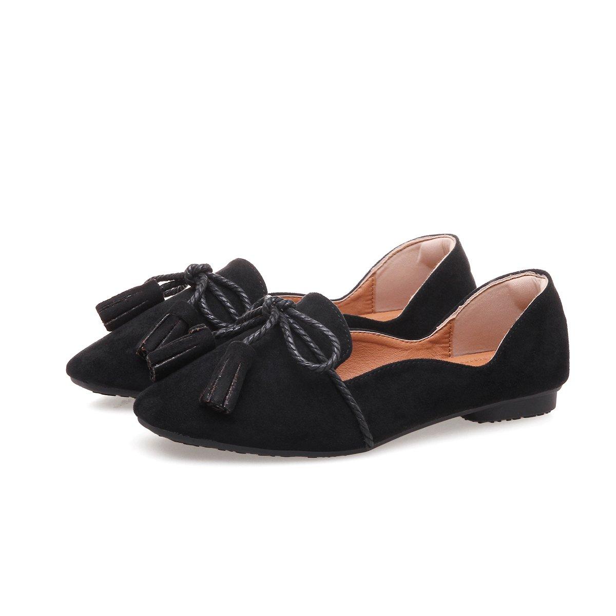 Printemps et d'hiver lumière sauvage-à-tête avec une base plate tide black student ballet chaussures femmes