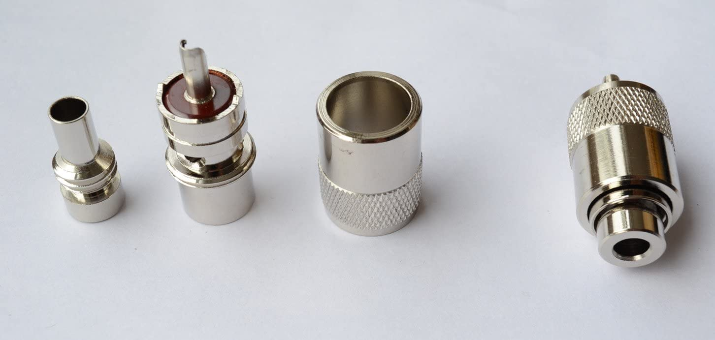 Silver UG-176//U For PL259 Connector Antenna Coax Coaxial Adapter Connector 10
