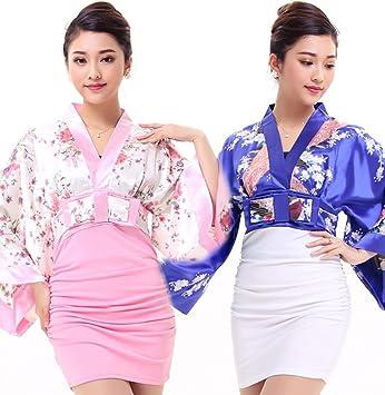 GBT Traje Kimono Jacquard Japonés,Polvo Blanco: Amazon.es ...