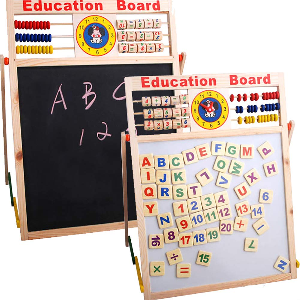 Aland-Abacus Wooden Letters Numbers Blackboard Magnetic Board Kids Educational Toys