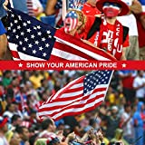 American Flag–Heavyweight Oxford Nylon Built for Outdoor Use, UV Protected and Featuring Embroider Stars and Sewn Stripes and Brass Grommets