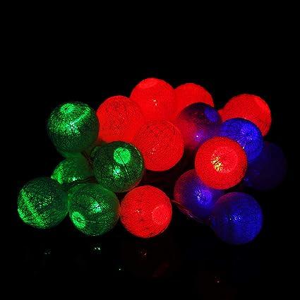 20 LEDs Cotton Ball Fairy String Light Wedding Party Patio Christmas Decor White