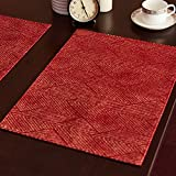VULK Homes kitchen restaurant Placemat / European style rectangular table mat / disc pad / simple , red , 3245cm Tablecloth