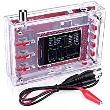 """Quimat DSO138 Digital Oscilloscope Kit Open Source 2.4"""" TFT 1Msps with Probe&Protective Case, Welded Version (Case Needs to be Assembled)"""