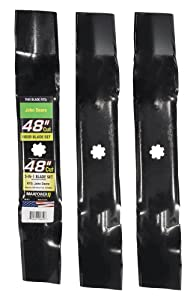 Maxpower 561812 3-Blade Set of 3-N-1 Blades for 48 Inch Cut John Deere Replaces AM137757, AM141035, GX21784, GY20852