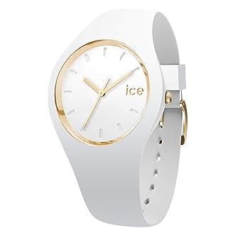 bf3195d2dc364 Ice-Watch - Ice Glam White - Montre Blanche pour Femme avec Bracelet en  Silicone