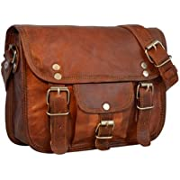 Handmade Leather Unisex Real Leather Messenger Bag for Tour Travel Briefcase Satchel Side Bag Daily use Bag Small Pocket…