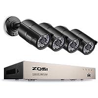 ZOSI 8CH FULL TRUE 1080P Video Security DVR 4X 1080P HD Outdoor Weatherproof Surveillance Sercurity Camera Systems 1TB HDD UK Standards PAL
