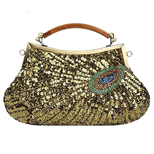 Peacock Bag Dinner X Antique Sequin Beaded green 20cm Bags Women's Clutch NVBAO Evening Party Purse£¬28 07Snqxtxf