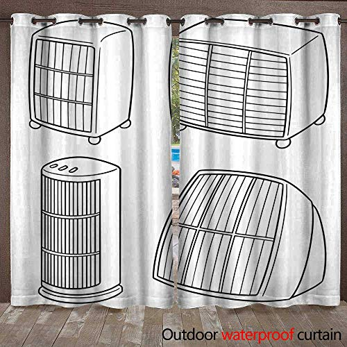 RenteriaDecor Outdoor Curtains for Patio Sheer Heater W108 x L84