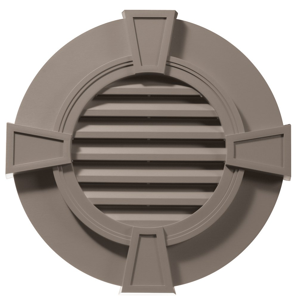 Builders Edge 120033030008 30'' Round Octagon Vent Wide Ring and Keystones 008, Clay