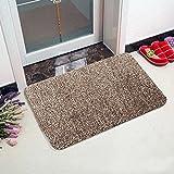 #2: Super Absorbent Doormat, Super Absorbs Mud Doormat, Latex Backing Non Slip Door Mat Floor Dirt Trapper Mats Cotton Entrance Rug for Small Front Door, 18