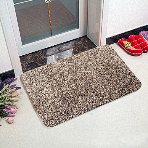 Super Absorbent Doormat, Super Absorbs Mud Doormat, Latex Backing Non Slip Door Mat Floor Dirt Trapper Mats Cotton Entrance Rug for Small Front Door, 18