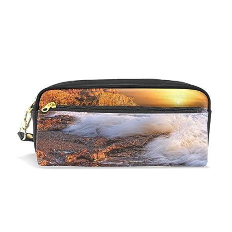 Amazon Com Pencil Pouch Sunset Wallpapers Ocean Waves Pen Case