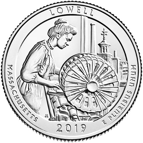 2019 S Silver Proof Lowell National Historical Park Lowell Massachusetts National Park NP Quarter GEM Proof US Mint ()