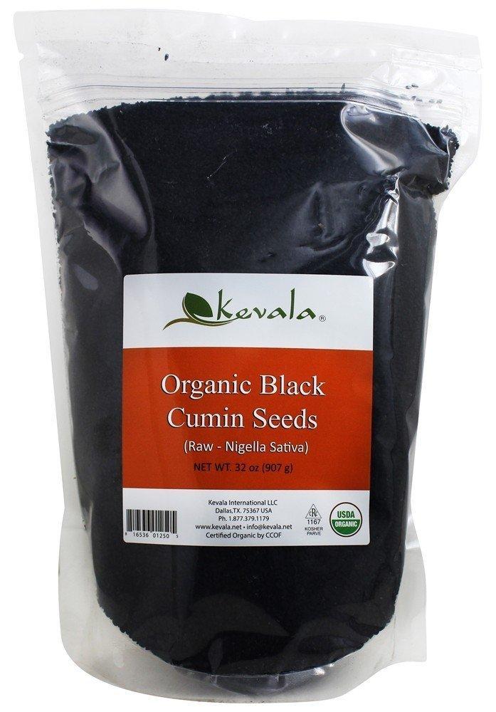 Kevala Organic Raw Black Cumin Seeds (Nigella Sativa) 2 Lb