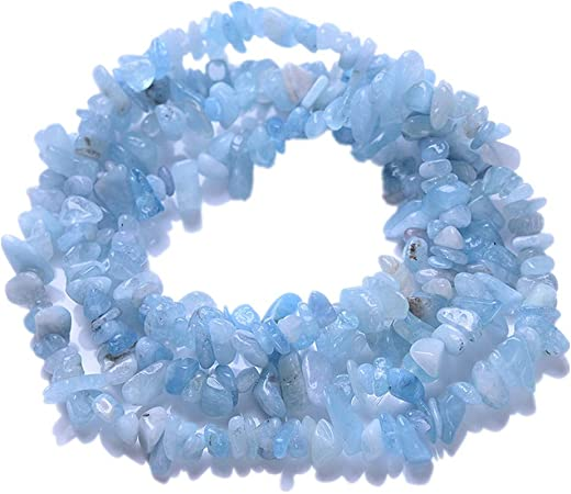 Aquamarine faceted chips