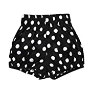 Birdfly Toddler Baby Basic Bloomers Diaper Cover Infant Boys Girls Bottom Shorts Cotton Clothes (6M, Polk Dots)