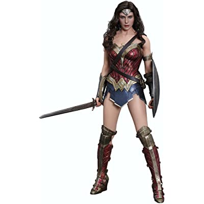 Movie Masterpiece Batman vs Superman Justice Wonder Woman 1/6 Scale Action Figure by Hot Toys: Toys & Games