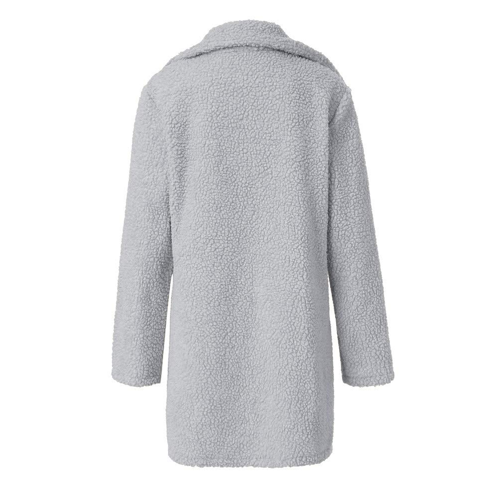 Amazon.com: Womens Oversized Coat Faux Wool Fleece Jacket ...