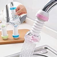 Weltime 360 Degree Water Saving Faucet Adjustable 3 Types of Output Water Valve Splash Regulator Water Filter Tap Kitchen Accessories, Water Faucet Kitchen Tap (Multi Color)