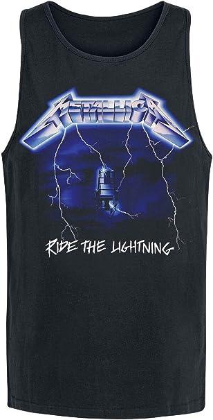 Metallica Ride The Lightning Hombre Top Tirante Ancho Negro, Regular: Amazon.es: Ropa y accesorios