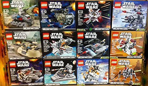 LEGO Star Wars Microfighters Series 1 and 2 Set of 12 (75028, 75029, 75030, 75031, 75032, 75033, 75072, 75073, 75074, 75075, 75076, and 75077)