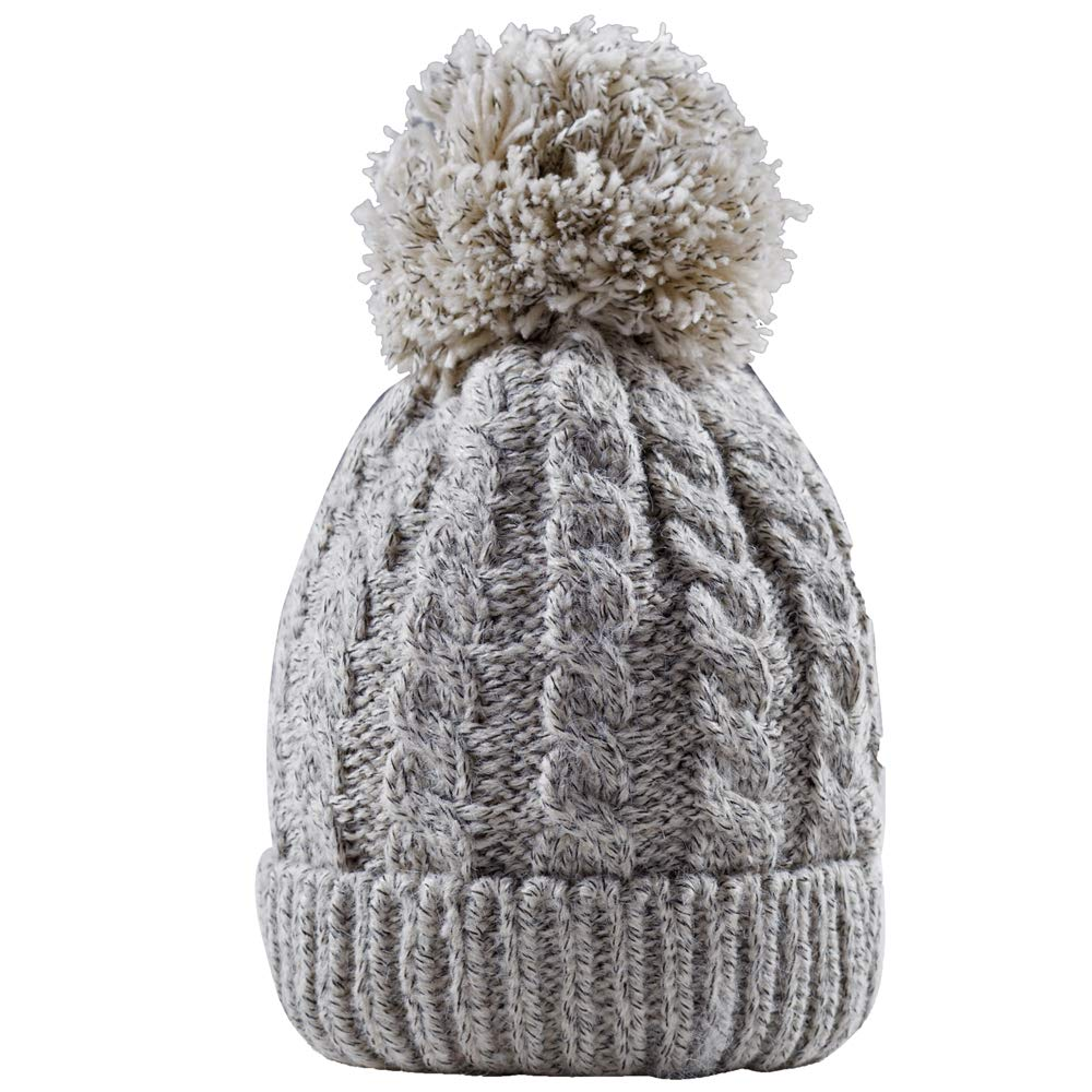 699ff6cdcdc Women s Winter Beanie Warm Fleece Lining - Thick Slouchy Cable Knit Hat(Gray)   Amazon.ca  Clothing   Accessories