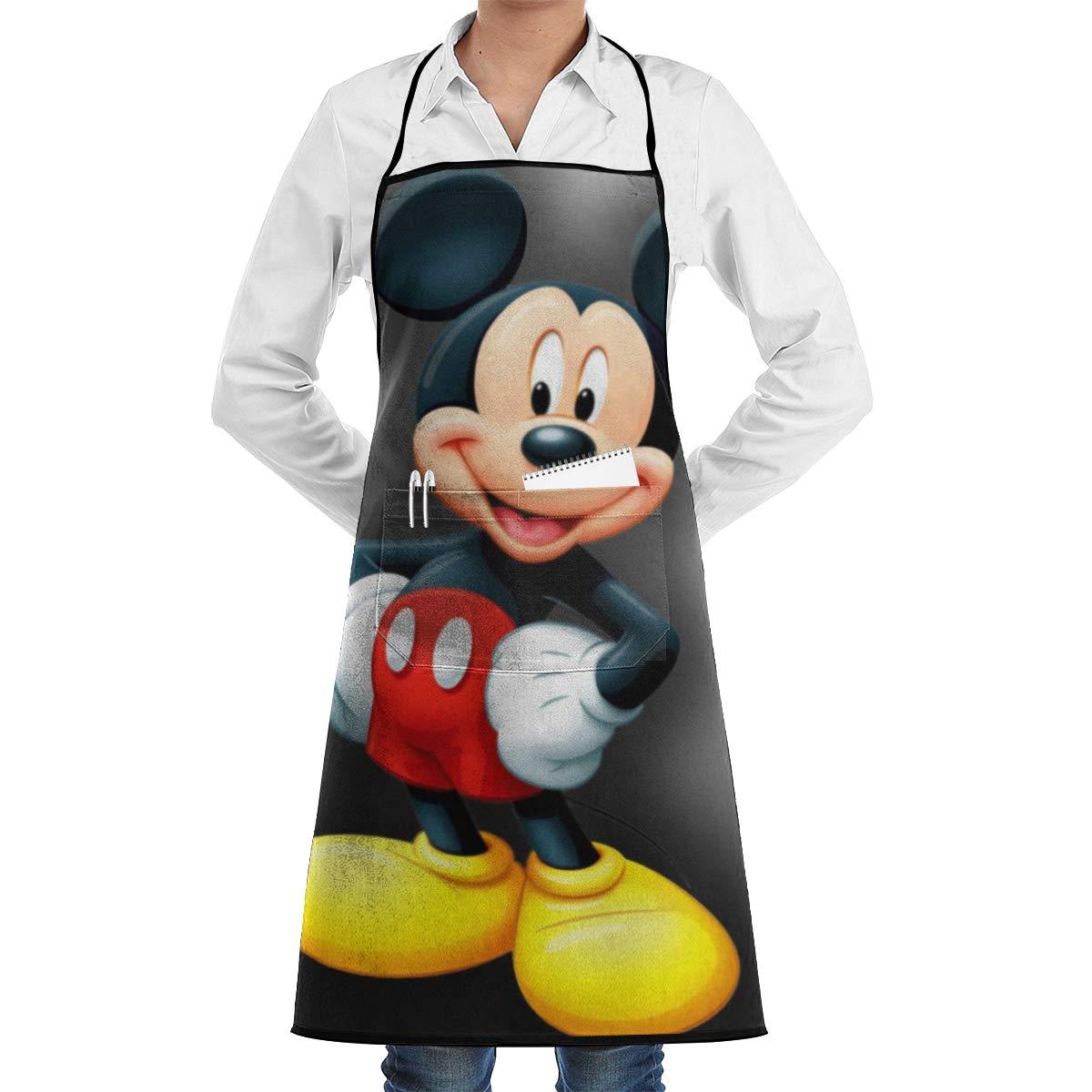WSXEDC Delantal con Bolsillos - Mickey Mouse Grill Delantal para ...