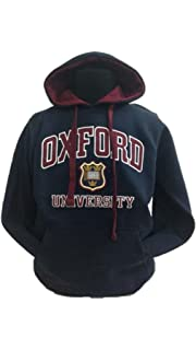 Oxford University Applique - Sudadera con Capucha Unisex Navy/Maroon S