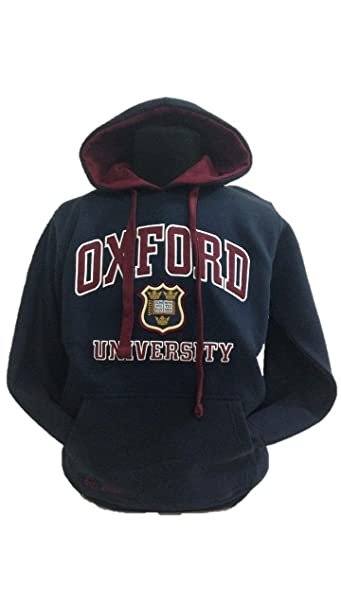 Oxford University Applique - Sudadera con Capucha Unisex Navy/Maroon S: Amazon.es: Ropa y accesorios