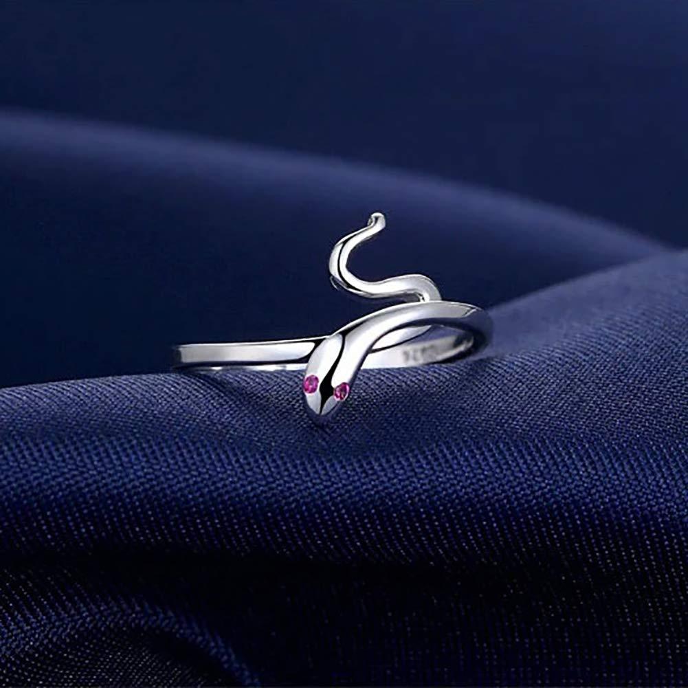 Goodplan Qualit/é Premium Argent Forme De Serpent Ouverture Bague R/églable Fille Bijoux Partie Cadeau