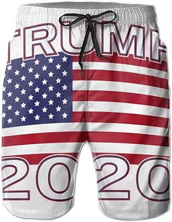 PENIF Trump 2020 Men's 3D Printed Shorts Funny Swim Trunks