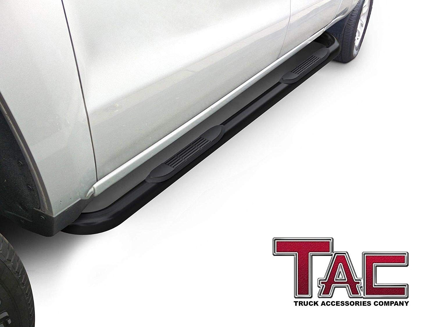 2010-2019 Dodge RAM 2500//3500//4500//5500 Crew Cab Pickup Truck 3 Stainless Steel Step Rails Running Boards Off Road Exterior Accessories 2 Pieces TAC Side Steps Fit 2009-2018 Dodge RAM 1500 Crew Cab
