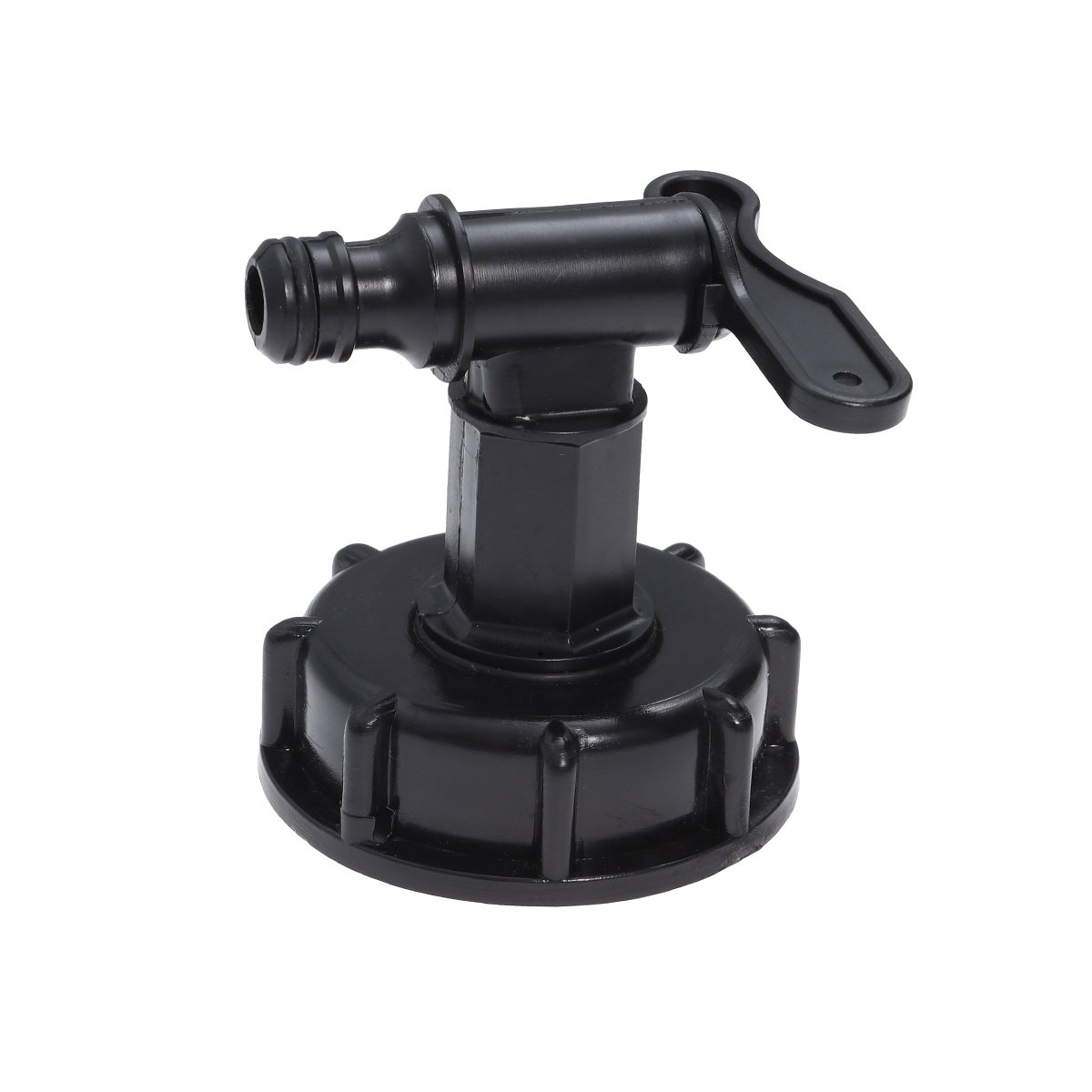 schwarz OUNONA IBC Tank Adapter Faucet Water Drain Tap To 15/ mm Thread Water Tank Yard Garden Tap Adapter-VENTIL SCHLAUCH ADAPTER
