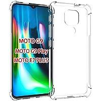 GINDIN Funda para Motorola Moto G9 Play y Moto E7 Plus, Transparente Carcasa Protección a Bordes y Cámara con Absorción…