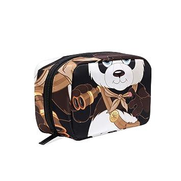 cfd9e98760 Amazon.com   Expedition Panda Telescope Makeup Bag Organizer Portable Cosmetic  Pouch Handbag With Zipper For Women Purse   Beauty