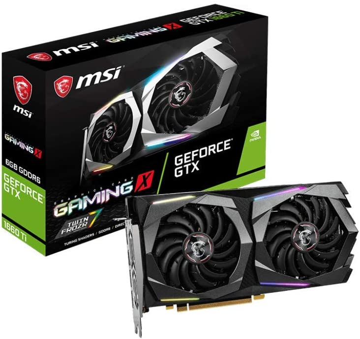 MSI GeForce GTX 1660 Ti Gaming X 6G - Tarjeta gráfica (6 GB, GDDR6 ...