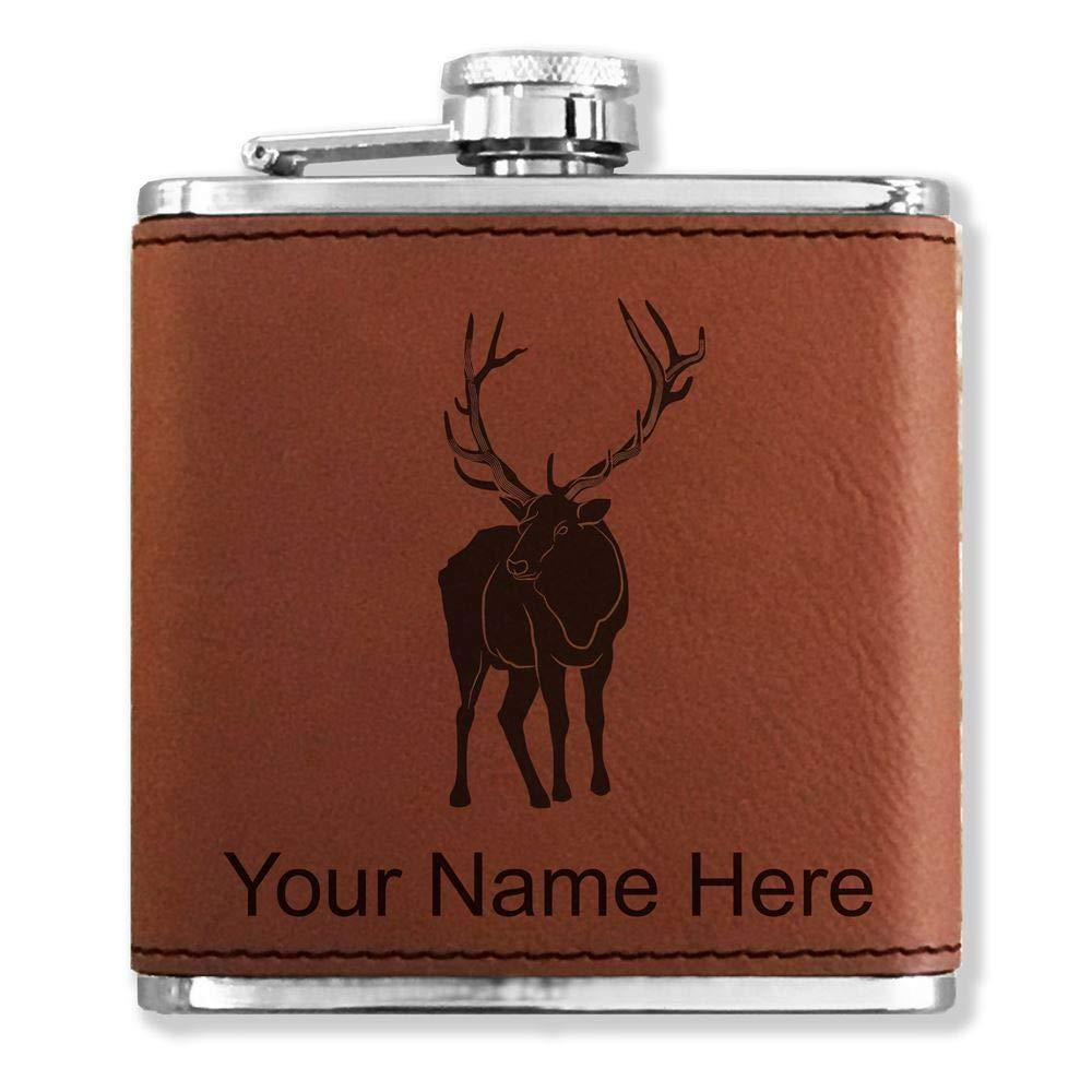 【激安アウトレット!】 フェイクレザーフラスコ – Elk – カスタマイズ彫刻Included (ダークブラウン)   B01MXH21N0, SIMONS STORE 66e8ce4e