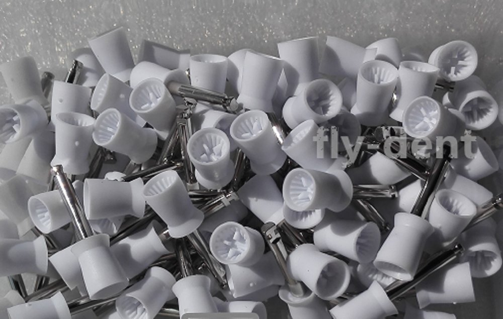 White Dental Disposable Latch type Polishing Prophy Cups