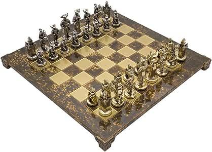 Manopoulos - Jeu d'échecs de Luxe Les Chevaliers médiévaux avec étui en Bois