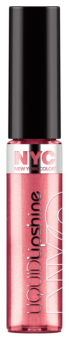 N.Y.C. New York Color Liquid Lipshine Lip Gloss, Chelsea Pink, 1-Count Coty 30021876631