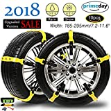 Search : 【NEW 2018 VERSION 】Snow Chains Car Anti Slip Tire Chains Adjustable Anti-Skid Chains Car Tire Snow Chains Fits for Most Car/SUV/Truck-Set of 10 Width 185-295mm/7.2-11.6''