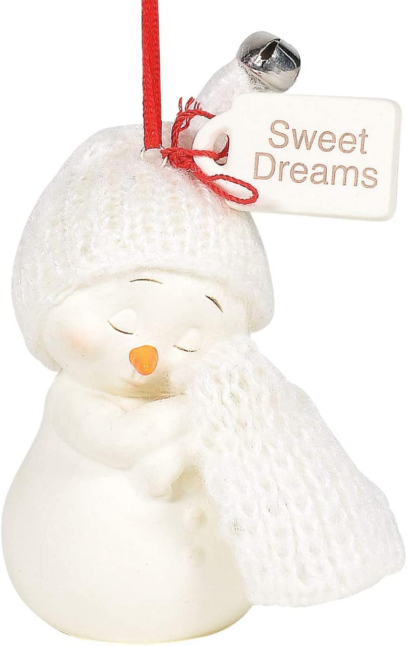 Department 56 Snowpinions Sweet Dreams Baby's First Hanging Ornament, 3 Inch, Multicolor