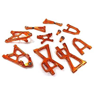 Integy RC Model Hop-ups BAJ348ORANGE Billet Machined T5 Suspension Conversion Kit for HPI Baja 5B, 5T & 5SC: Toys & Games