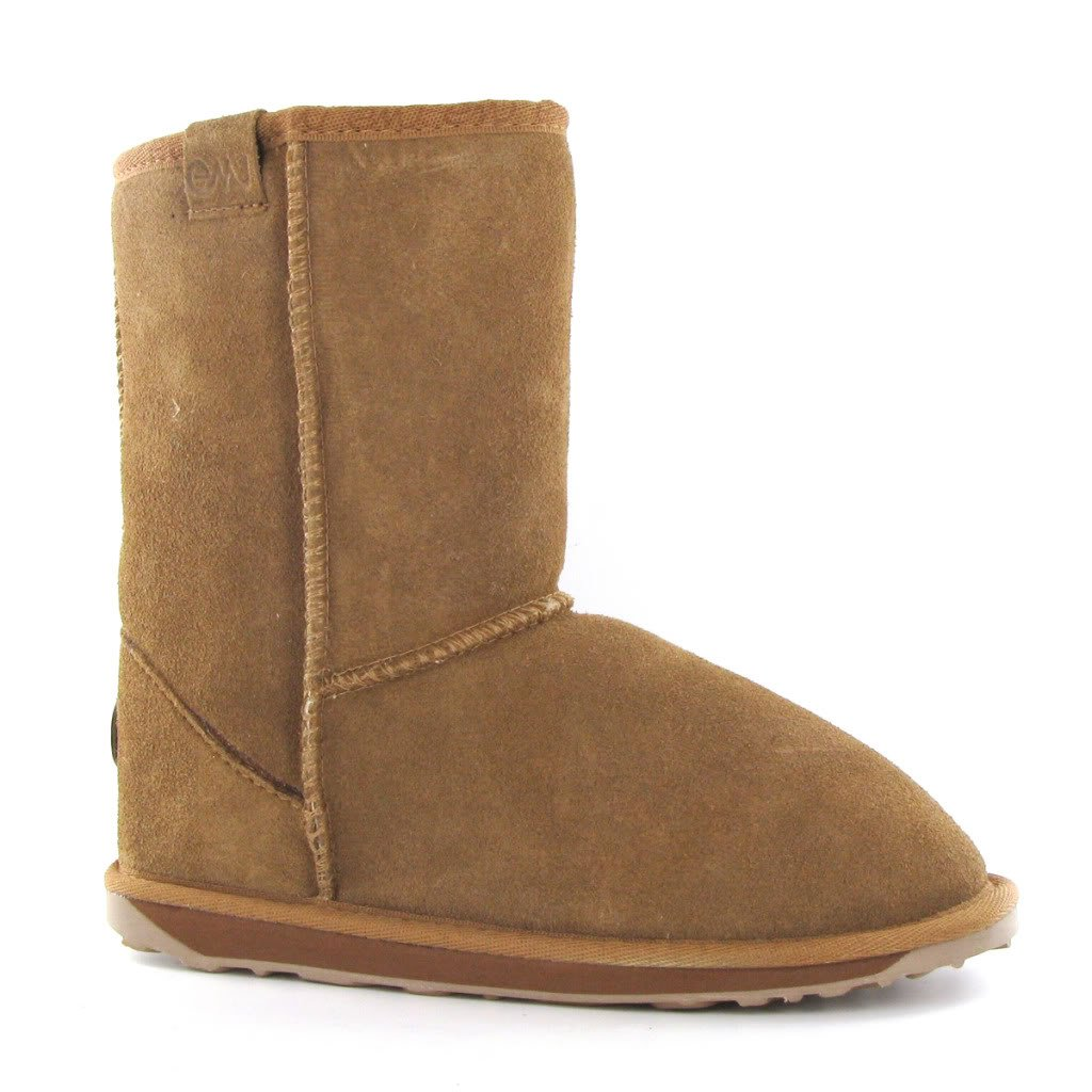 70c9a2839fd45 Emu Wallaby Lo Chestnut Sheepskin Kids Boots Size 1 UK  Amazon.co.uk  Shoes    Bags