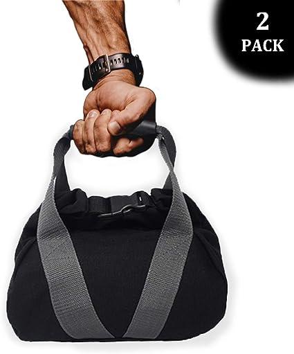 2 Pcs Adjustable Canvas-Kettlebell-Sandbag wtih Handle for Training Home Training Fitness Yoga