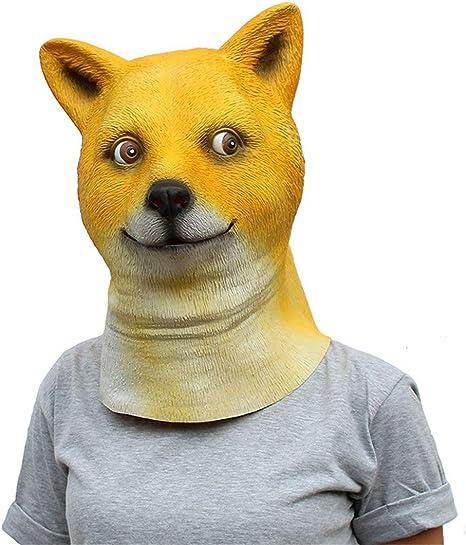 VUKUB Realista Animal Peluca Akita Perro Máscara Halloween ...