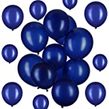 Hestya Navy Blue Balloons 100 Pack 12 Inch Latex Party Balloons Navy Blue Balloons Latex Balloons for Weddings, Birthday Party, Bridal Shower, Party Decoration (Navy Blue, 12 Inch)